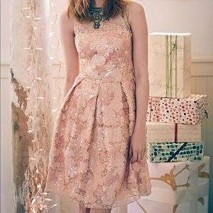 Anthropologie light pink dress by Eva Franco